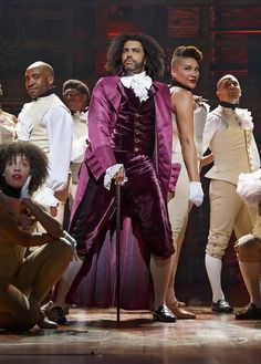 Daveed Diggs as Thomas Jefferson and the ensemble of HAMILTON