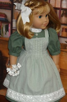 Lovely spring-holiday-green-dress-and-apron-for Nellie and Samantha