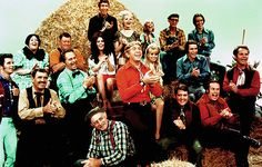 Hee Haw - (1969-1992). Starring:   Archie Campbell, Roy Acuff, Gordie Tapp, Grandpa Jones, Junior Samples, Lulu Roman and Minnie Pearl. Partial Guest Cast: Waylon Jennings, Barbara Mandrell, Tennessee Ernie Ford, Florence Henderson, George Jones, Dottie West, Ronnie Milsap, Loretta Lynn, Johnny Cash, Charlie Chase, Glen Campbell, Eddie Rabbitt, Merle Haggard, Tanya Tucker, Louise Mandrell, Charlie Daniels, Conway Twitty, Boxcar Willy, Dennis Weaver, Mel Tillis, Charlie Rich and Tammy Wynette.