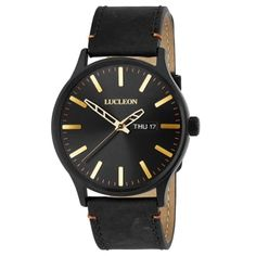 * Beautiful burnished gold detailing * Elegant Danish design * Interchangeable leather strap * Comes in handsome gift box. Boys Watches, Elegant Watches, Unusual Watches, Bracelet Cuir, Seiko Watches, Automatic Watch, Watch Brands, Lucca, Quartz Watch