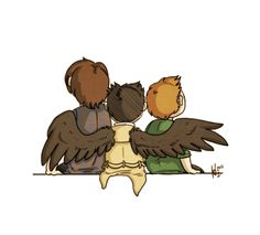 Castiel, Sam and Dean Supernatural Drawings, Supernatural Fan Art, Castiel, Supernatural Bunker, Fanart, Fandoms, Superwholock, Geek Stuff, Artwork