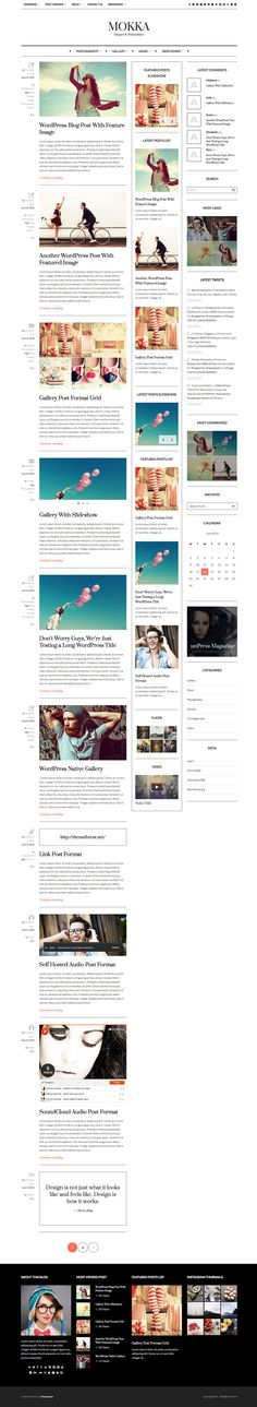 Mokka - Minimal  Elegant WordPress Blog #websitedesign #theme #template