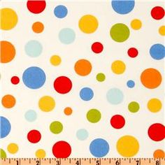 Michael Miller Retro Lolli Dot Clementine - $9/yd. SO CUTE!