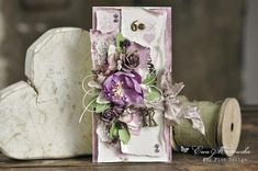 A beautiful card with new Scent of Lavender paper collection