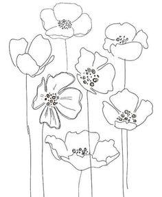 flower line drawing Flower Line Drawings, Flower Sketches, Flower Artwork, Drawing Flowers, Simple Artwork, Floral Drawing, Poppy Drawing, Simple Flower Drawing, Simple Flower Design