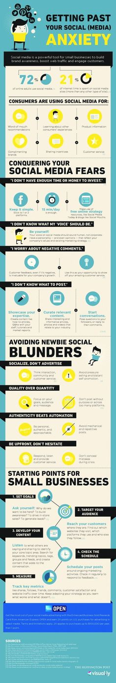 Why and how businesses should get past social media anxiety! | #Infographic #Internet #Marketing