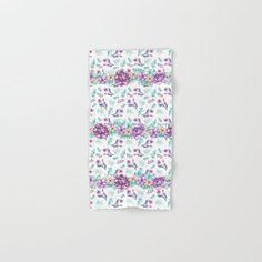 Purple peonies elegant watercolor Hand & Bath Towel by augustinet | Society6 Purple Peonies, Hand Towels, Clock, Tapestry, Bath, Watercolor, Pillows, Elegant, Prints