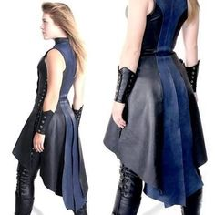 The Assassin Phoenix Dress is an essential piece for any Lady Rogue! Inspired by Victorian Era tailcoats, this custom leather dress is a unique modern fit. Nerd Fashion, Fashion Outfits, Fashion Design, Fashion Goth, Modern Steampunk Fashion, Latex Fashion, Kimono Fashion, Fashion Women, Mode Steampunk