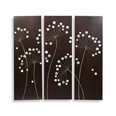 DIY knock-off from Burton Avenue: BB Dandelion Wall Plaques Diy Wand, Mur Diy, Dandelion Wall Art, Ideias Diy, Wood Plaques, Button Art, Home And Deco, Diy Wall Art, Wall Décor