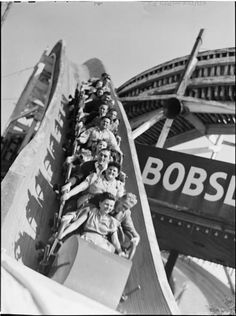 "Palisades Amusement Park [""Bobsled""] 1946"