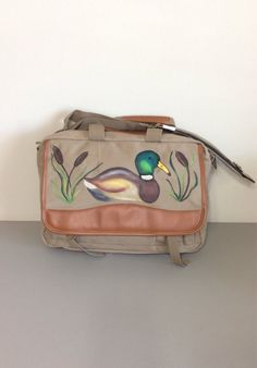 Computer Brief Bag with Hand Painted Mallard by GulfLifebyNichole, $69.99
