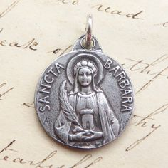 Rosa Mystica St Ignatius of Loyola Medal-Antique Reproduction-Patron of The Society of Jesus