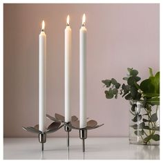 Small Candles, Taper Candles, White Candles, Small Candle Holders, Candle Set, Sweet Home Collection, Ikea Family, Neutral, Glow