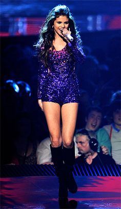 Love Selena Gomez's hot outfit here... Where would normal people wear  it though?