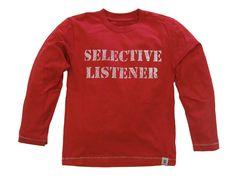 Selective Listener Long Sleeve T-Shirt