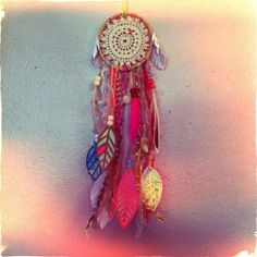 Mini dreamcatcher with vintage lace and by CosmicAmerican on Etsy, $40.00