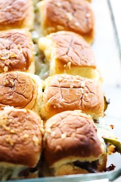 These Philly Cheese Steak Sliders are perfect for game days, parties, or dinner. They are loaded with roast beef, green peppers, provolone cheese, sautéed onions and mayonnaise. This is a meal that will please the masses and have everyone coming back for more!