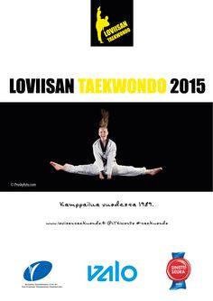 Loviisan Taekwondo -seuran vuosijulkaisun kansi, 2015. Visuaalinen toteutus vapaaehtoistyönä ammattitaidon ylläpitämiseksi, Natasha Varis.