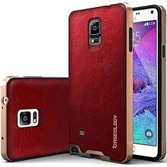 Galaxy Note 4 Case, Caseology [Bumper Frame] Samsung Galaxy Note 4 Case [Leather Burgundy Red] Slim Fit Skin Cover [Shock Absorbent] TPU Bumper Galaxy Note 4 Case [Made in Korea] (for Samsung Galaxy Note 4 AT&T Sprint, T-mobile, Unlocked) Caseology http://www.amazon.com/dp/B00N4DIKQQ/ref=cm_sw_r_pi_dp_fmHtvb1ZPAKQ5
