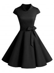 Vintage Pin Up Party Dress - BLACK OMFG SO ADORABLE