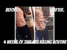 FULL HOME ABS ROUTINE [5min]- 4 WEEK TRANSFORMATION(BURN FAT GROW MUSCLES) - YouTube