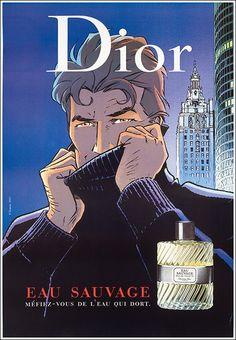 #Dior, Eau #Sauvage (#LargoWinch) #original #vintage #poster manifesto  www.posterimage.it