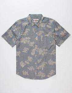 Sweatwater Mens Lace Stitching Button Down Long Sleeve Dress Shirt