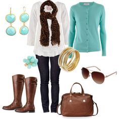 Love teal. Wish I could put this outfit together!