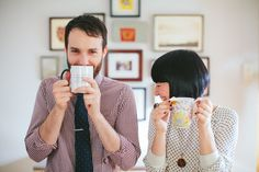 adorable coffee engagement shoot » Stoffer Photography