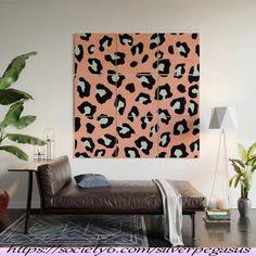 Leopard Print - Icy Peach Wood Wall Art by silverpegasus Black Wall Art, Wood Wall Art, Wall Art Decor, Cheetah Print Walls, Leopard Decor, African Room, Air Brush Painting, Buy Wood, Cool Walls