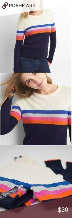 GAP Vanilla Sky Stripe Knit Sweater GAP Vanilla Sky Stripe Knit Sweater   Brand new, stylish and comfy.  Bundle? msg me. GAP Sweaters Crew & Scoop Necks