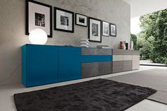 Furniture Cool Luxury Inclinart Blue Lacquered Modern Sideboard With Doors Design By Pierangelo Sciuto As Well As Italian Designer Sideboard Credenza Gorgeous Blue Sideboard Designs Embracing Function in Style Sideboard Table, Sideboard Furniture, Modern Sideboard, Credenza, Luxury Italian Furniture, Interior Design Inspiration, Door Design, Interior Architecture, Furniture Design