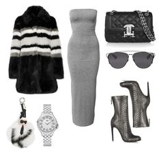 """Look:#232"" by dollarwomanlux ❤ liked on Polyvore featuring Moschino, AINEA, Christian Dior, Fendi and Haider Ackermann"
