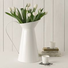 Beautiful home accessories from @The White Company - Enamel Jug