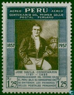 Peru - 100 years stamps 1957