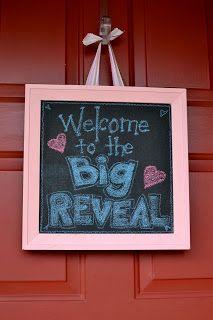 Big Reveal door sign