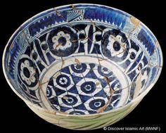 """Cuencos """"de Mileto"""", Estambul, Turquía  Siglos VII-IX de la Hégira / XIV-XVI d. C., Inicios del periodo otomano"""