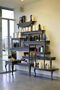 I love this homemade shelf idea!