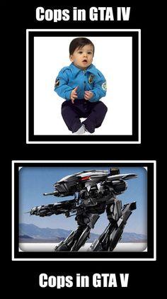 Cops In GTA 4 Vs GTA 5