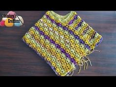 Winsome Crochet Poncho - Left Handed also avaliable in righthanded version Crochet Tutorial - YouTube