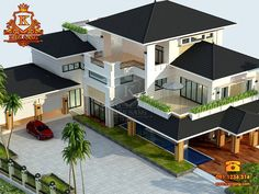 Better to see Modern Exterior House Designs, Modern House Facades, Modern House Design, Beautiful House Plans, Simple House Plans, House Outside Design, House Front Design, Classic House Design, Bungalow House Design