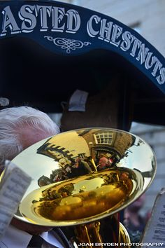 Reflections of the Kirkby Lonsdale Brass Band in the euphonium