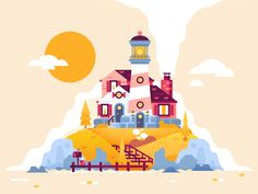 Lighthouse by Nick Slater #Design Popular #Dribbble #shots