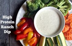 A high protein dip perfect for getting your protein in while snacking. It only uses 2 ingredients to make a tasty high protein dip that is low in carbs too.