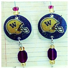 University of Washington Huskies Earrings by BlingYourAGame