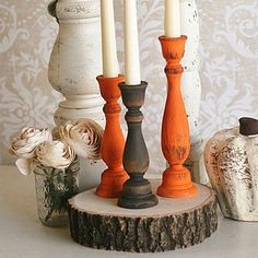 DIY Candlesticks For Thanksgiving