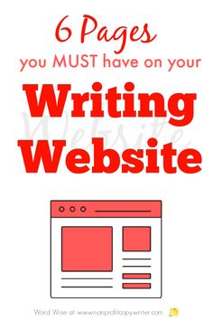 6 pages you must have on your writing website with Word Wise at Nonprofit Copywriter #OnlineWriting #FreelanceWriting Writing Websites, Writing Services, Easy Writing, Writing Tips, Professional Writing, Content Page, Copywriter, Social Media Channels, Fiction Writing
