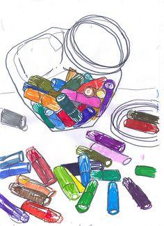 Jar of pens by Myfanwy Nixon