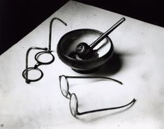 Mondrian's Glasses and Pipe by André Kertész • 1926 • As part of the Bruce Silverstein Gallery — Estate of André Kertész (1925-1930: Paris)
