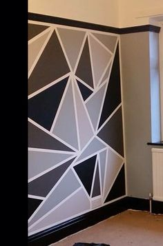 Painters tape accent wall Using a roller paint where you want